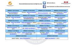 Calendario CM 01 Liga (Bosco Salesianos Ourense) Tags: calendarios bosco salesianos fgb ourense