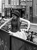 Greeter at York Dungeons (Ian Press Photography) Tags: greeter york dungeons greet actor actress dungeon tourist black white mono monochrome