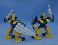 Lockons (Mantis.King) Tags: lego legogaming legomecha lockon mechaton mobileframezero mfz mf0 microscale mecha mech scifi futuristic wargames