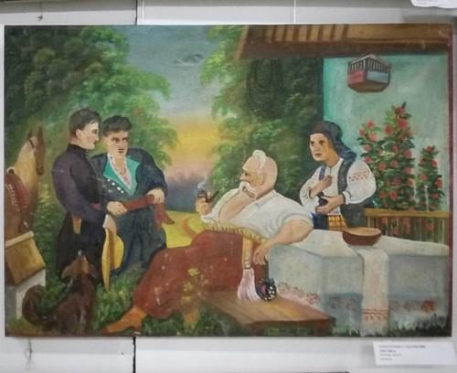 Тарас Бульба беседует с сыновьями #рыбинск #галерея_март #тц_сеннаяплощадь #живопись #наив #painting