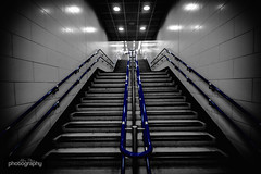 20/31 Endless (Alex Chilli) Tags: stairs steps staircase london up blue colourpop white black