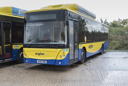 (044) Bus - Anglian - Man EcoCity - AU62 DWG - Beccles
