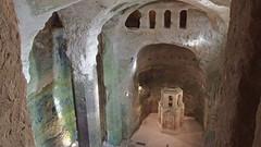 DSCF0062 glise monolithe d'Aubeterre-sur-Dronne (Charente) (Thomas The Baguette) Tags: aubeterresurdronne charente france monolith cave church tympanum glise glisenotredame saintjacques caminodesantiago sexyguy chateau cloister minimes mithra mithras cult