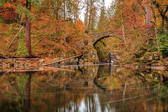 Autumn on the River Braan (MilesGrayPhotography (AnimalsBeforeHumans)) Tags: autumn britain bridge canon 6d canon6d 1635 canonef1635mmf4lisusm dunkeld eos ef europe f4l golden historic iconic landscape longexposure lens le nd nd1000 10stopper outdoors photography reflections rocks river riverbraan scotland scenic trees forest uk unitedkingdom village waterscape fallsofbraan thehermitage hermitage perthshire craigvineanforest