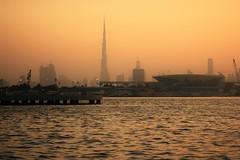 The other side (Jenny Hail) Tags: sunset dubai festival city burl khalifa