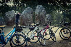 Exploring the Monoliths (lilnjn) Tags: animals biking portugal sports bikes monoliths