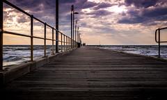 Pier - Sunset - HDR (jakemcguinness) Tags: pier beach sunset hdr purple yellow colourful ocean australia