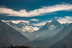 Panoramic view of Everest, Lhotse and Ama Dablam, Everest region, Nepal (CamelKW) Tags: 2016 everestpanoram nepal panoramicview everest everestregion lhotse amadablam