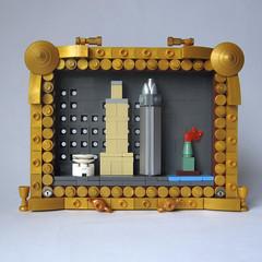 Framed New York (JETfri) Tags: lego microscale moc frames newyork guggenheim empirestatebuilding chryslerbuilding statueofliberty