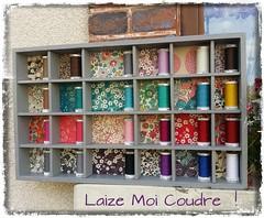 presentoir_bobines_liberty02 (Laize Moi Coudre) Tags: atelier couture sewing bobines diy libertyoflondon travailleuse brocante chine