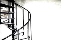Wendeltreppe (Mastahkid) Tags: mastahkid niederlande nederland thenetherlands abandoned gammelporn industrie ontourwithmyego wendeltreppe schwarz black weis white stahl steel