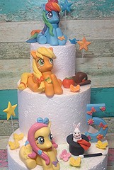 My little pony cake toppers (eMillicake) Tags: my little pony cake toppers handmade fondant