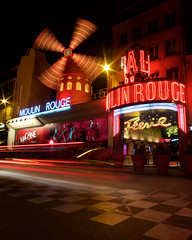 Moulin Rouge (nickcoates74) Tags: explored 12mm 12mmf20 18e 18th a6000 arrondissement france ilce6000 moulinrouge night nuit paris placeblanche samyang sony ultrawide îledefrance