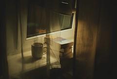 11.2016 (nnnnikt) Tags: window light cup book books film evening
