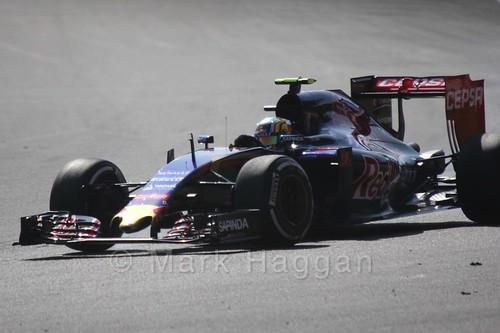 Carlos Sainz Jr in Free Practice 1 at the 2015 Belgian Grand Prix
