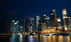 Scene : Alone (oroooat) Tags: city light building architecture night cityscape central area sigapore