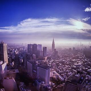 Sora no Shinjuku! ☁☀  #photograph #landscape #city #building #morning #blue #sky #skyline #skyscraper #sora #aoi #shinjuku #japan #vscocam #jatinismara