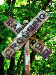 Old Crossings (e r j k . a m e r j k a) Tags: railroad ohio sign crossing harrison rusty explore figure cadiz roadside crusted us22 us250 erjkprunczyk oh9