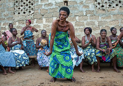 Benin, West Africa, Bopa, women dancing during a traditional voodoo ceremony (Eric Lafforgue) Tags: africa people color festival horizontal female religious outdoors togetherness dance community women worship colorful sitting dancing spirit african traditional religion fulllength performance ceremony dancer womenonly event textile westafrica ritual benin spirituality tradition cloth spiritual groupofpeople cultures priestess voodoo trance inarow ceremonial vodoun voodou voudou realpeople bopa vodou colourimage africanethnicity vodon vudun benin4961 alidalatham