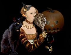 it'll be all right on the night (sammydavisdog) Tags: halloween blackcat pumpkin witch
