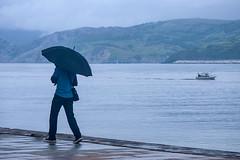 Rain (javipaper) Tags: rain umbrella puerto mar lluvia paseo paraguas