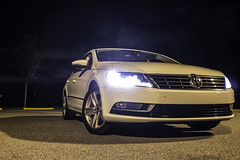 VW CC 2013 (CamG_Photography) Tags: sky white snow tree ice car vw night volkswagen lights outdoor gorgeous parking lot headlights grill led cc turbo vehicle passat vdub rline 2013