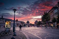 Un matin pas comme les autres... (Gilderic Photography) Tags: street city morning sky clouds sunrise square lumix place belgium belgique belgie panasonic ciel nuages rue liege ville luik saintlambert gilderic lx3 dmclx3