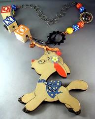 Vintage Lamb Necklace (sassyone2013) Tags: fashion animal high sheep handmade crafts devils kitsch jewelry lolita goats fantasy kawaii lamb devil accessories earrings etsy necklaces 4timeschi