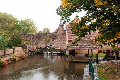 Lavoir le long du canal de la Lauter à Wissembourg