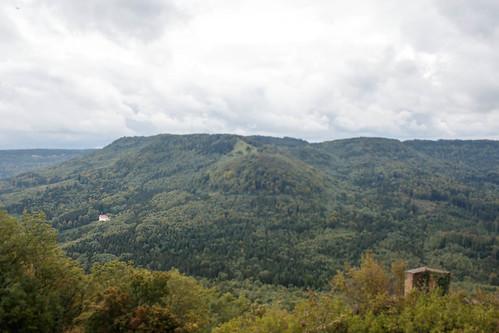 Vue sur le Zeller Horn depuis le château de Hohenzollern (alt. 855 m)
