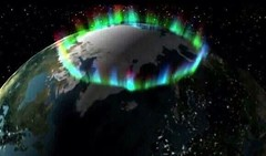 Picture taken by NASA of the northern lights from space (CISSO) Tags: station noir espace galaxie trou aurore fusee borale plante spatiale