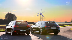 Audi A6 & VW Golf 6 (T.M.-Photography) Tags: auto street color cars car vw golf volkswagen landscape autos audi tuning landschaft hdr fahrzeuge kfz strase