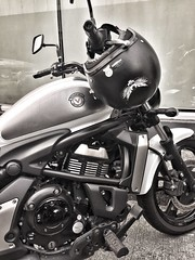 City ride saturday. (garonhonasan) Tags: urban motorcycles biker vulcan kawasaki iphone iphoneography shogunstyle
