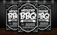 BBQ Chalk Flyer Template (XtremeFlyers) Tags: park party summer sun holiday bar poster outside restaurant chalk flyer pub backyard weekend bbq grill patio invitation barbecue fourthofjuly psd chalkboard template cookout summerbbq patioparty flyertemplate summerflyer barbecueflyer bbqflyer