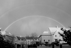 Double rainbow in monochrome (bardwellpeter) Tags: rainbow norwich novembers wensum nx10 samsungnx10