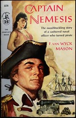 Pocket Books 1176 (Sept., 1957). First Printing. Cover Art by James Meese (lhboudreau) Tags: canon book pirates coverart books paperback pirate 1957 tallship swashbuckling pocketbook paperbacks sailingship nemesis bookart buccaneer galleon brigand swashbuckler meese privateer goodgirlart pocketbooks gga firstprinting paperbackbook paperbackbooks vintagepaperback vintagepaperbacks paperbackart fvanwyckmason jamesmeese september1957 vanwyckmason vintagepaperbackart pocketbooks1176 captainnemesis