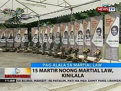 BT: 15 martir noong martial law, kinilala (thenewsvideos) Tags: martial law martir noong kinilala