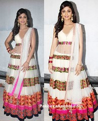 Shilpa Shetty in White Designer Lehenga Choli by Manish Malhotra (shaf_prince) Tags: shilpashetty bollywoodactress designerwear celebritydresses indianfashiondesigners sleevelessdresses lehengacholidesigns bollywooddesignerdresses mirrorworksuits actressinlehengas actressinwhitedresses bollywoodlehengas vshapedneckdesign