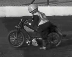 1948 child biker (theirhistory) Tags: uk boy england bike kid clothing child motorbike gb biker wellies rubberboots