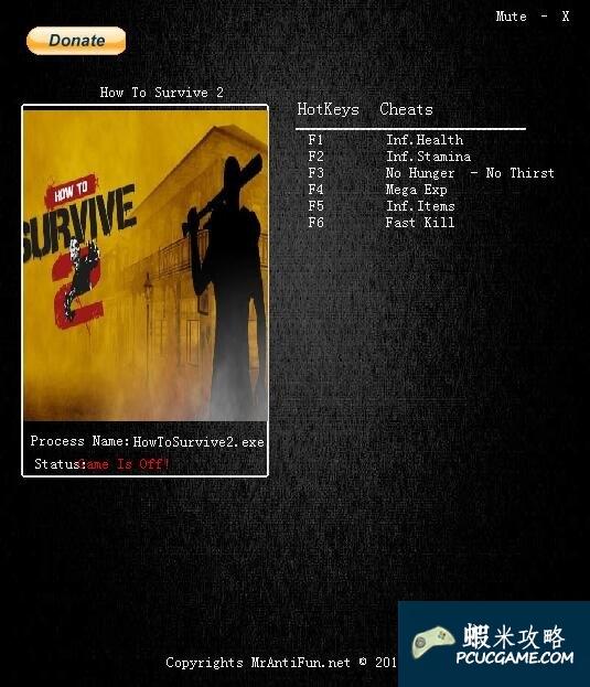 How to Survive 2 151029七項修改器MrAntiFun版