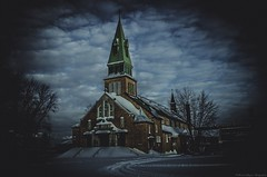 Church l'glise-de-Saint-Laurent Jonquire (yannick_gagnon) Tags: canada history church photoshop dark landscape photography photo catholic photographie pentax quebec sombre qubec histoire paysage extrieur glise eglise saguenay hdr jonquiere quebecois tnbreux passionphotography saguenaylacstjean hdrquebec pentaxlife photoqubec passionphoto hdraward hdrqubec histoireduqubec pentaxk50