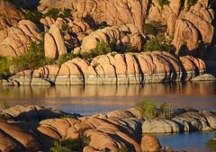 ROCKIN & ROLLIN (Irene2727) Tags: lake lakewatson arizona prescott water nature rocks reflections warm scape waterscape landscape