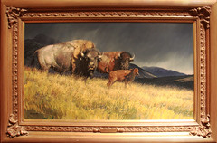 Stormy by Nancy Glazier (RPahre) Tags: nationalwildlifeartmuseum jackson wyoming painting bison nancyglazier robertpahrephotography copyrighted donotusewithoutwrittenpermission
