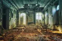 as palaces burn (Szydlak Szk) Tags: abandoned derelict forgotten old mansion maison castel palace urbex urbanexploration szydlak decay ruined ruin broken ceiling crumble architecture interior window sadness nostalgia nostalgic