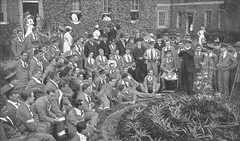 Fulham Military Hospital (Leonard Bentley) Tags: fulhammilitaryhospital stdunstansroad hammersmith britishsoldiers wounded metropolitanpoliceminstrels blackface entertainments fulhamworkhouse charingcrosshopsital london uk 1915 1917 beds germanprisoners
