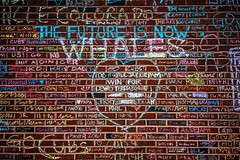The Future Is Now - WHALES (Joshua Mellin) Tags: chicago chicagocubs worldseries 2016 champions championship wrigleyfield wrigleyville baseball mlb 1908 108 fans chicagocubsworldseries worldseries2016 cubs world series park stadium clevelandindians indians photo photos best pics pictures playoffs finals tickets game score panorama panoramic fisheye wide wrigley scoreboard screen sign flag teams thenationalanthem nationalanthem america usa budweiser toyota nuveen bleachers outfield grass majorleaguebaseball flythew cubbies sports fox
