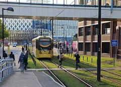 Harbour City (goremirebob) Tags: trams manchester salfordquays metrolink lrt