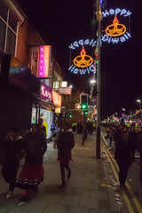 Happy Diwali (Brian Negus) Tags: night street leicester belgrave diwali illuminations lights wheeloflight switchingon