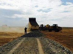 Landworks are underway at an emergency site (DFID - UK Department for International Development) Tags: iraq iom internationalorganisationmigration mosul humanitarianaid ukaid shelter displacedpeople idps daesh humanitarianpreparedness camps idpcamps irak