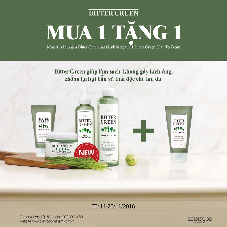 MUA 1 TẶNG 1 - Áp Dụng Cho Dòng BITTER GREEN